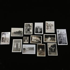Antique and vintage lot of 13 photographs.